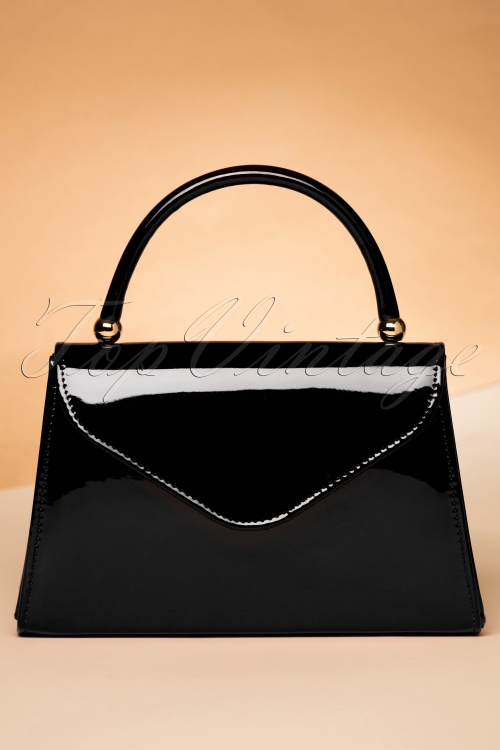 Black Bag In Flap Lacquer 60s Lillian 8wNn0m