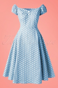 Collectif Clothing Dolores Vintage Polkadot Swing Dress Green 14758 20150109 10W