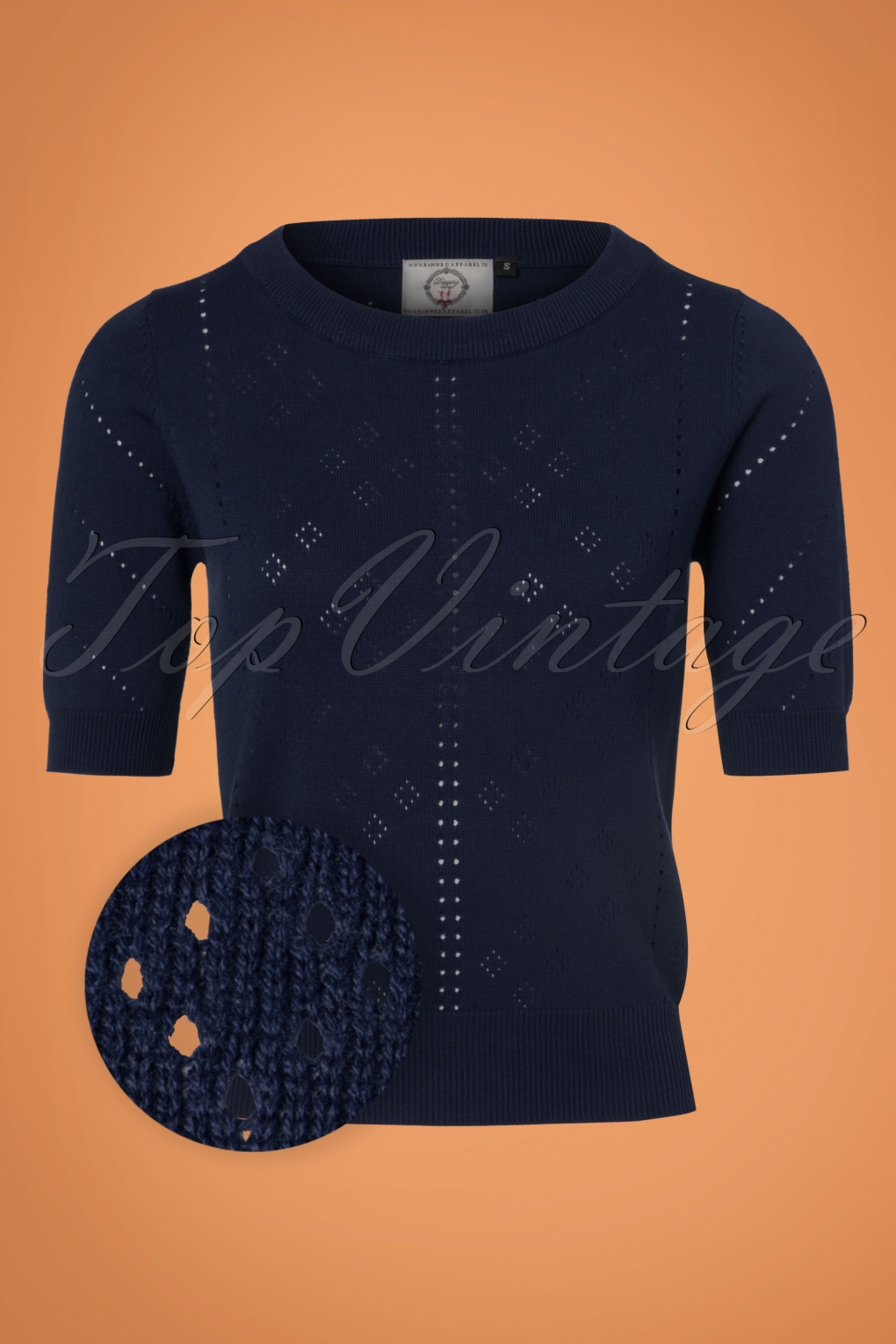 1950s Style Sweaters, Crop Cardigans, Twin Sets 50s Dune Jumper in Navy £34.27 AT vintagedancer.com
