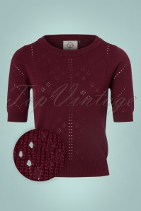 Banned Retro 50s Dune Jumper in Burgundy