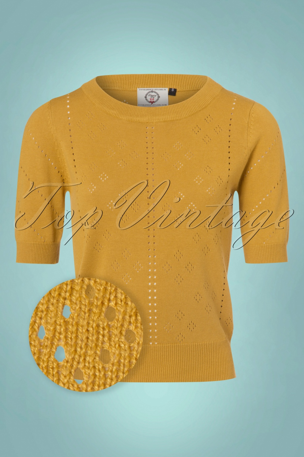 1950s Style Sweaters, Crop Cardigans, Twin Sets 50s Dune Jumper in Mustard £34.27 AT vintagedancer.com