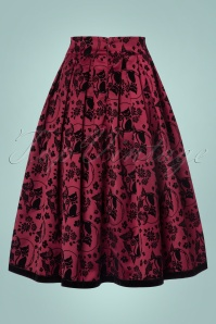 Dancing Days by Banned Sia Bella Skirt in Bordeaux 122 27 22375 20170717 0021w