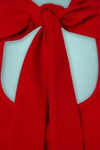 Vintage Chic Scuba Crepe Puff Sleeve Top in Red 110 20 22484 20170719 0006a