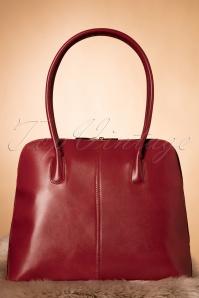 Classic Bag Années 70 en Cuir véritable Rouge cerise