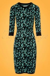 Le Pep Black and Blue Pencil Dress  100 14 21557 20170719 0011w