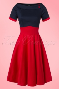 Dolly and Dotty 50s Darlene Red Blue Swing Dress  102 20 21151 20170216 0012w