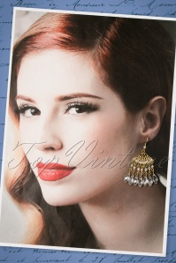 Foxy Dove Fan Earrings 334 91 22401 07252017 010W