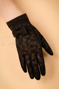 Unique Vintage Lace Bow Gloves in black 250 10 22214 07062017 011W