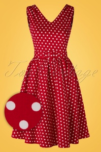 Dolly and Dotty Polkadot Dress in Red 102 27 15970 02172016 008WV