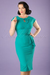 Stop Staring 40s Timeless Green Dress 100 32 20581 20170516 0012W