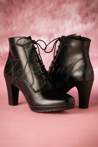 Tamaris Black Leather Boots 430 10 21536 07252017 021W