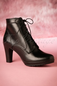 Tamaris Black Leather Boots 430 10 21536 07252017 008W
