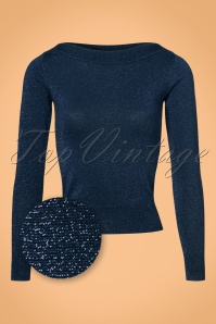 King Louie Audrey Top Lapis Dark Navy 21289 07262017 003W