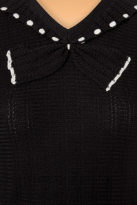 King Louie Collar Bow Knit Top Delight in Black 21205 20170726 0003a