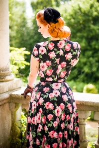 Vintage Chic Layla Swing Dress with Pink Roses 102 14 22428 20170704 3W1