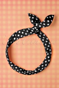 Collectif black polka hairband 208 14 11914 07242017 002W