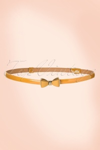 Banned Retro 50s Ocean Avenue Bow Belt in Mustard