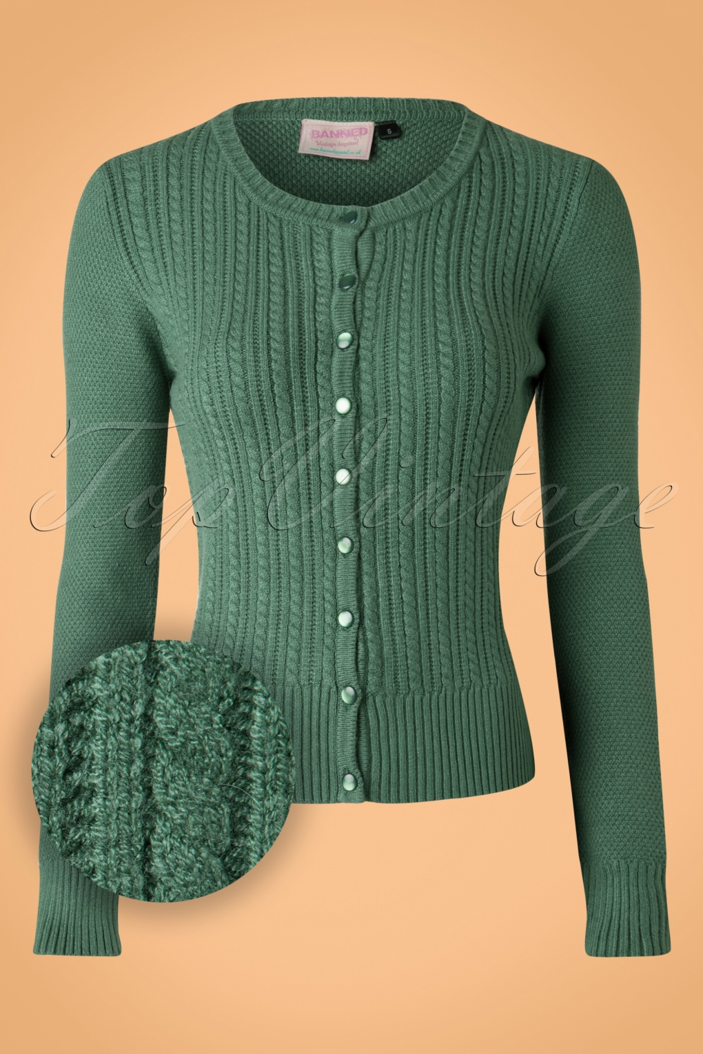 Vintage Sweaters: 1940s, 1950s, 1960s Pictures 40s Dream On Cardigan in Vintage Green £31.56 AT vintagedancer.com