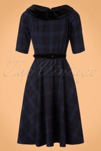 Bunny Livingston Blue Checked Swing Dress 102 39 19560 20170731 0019W