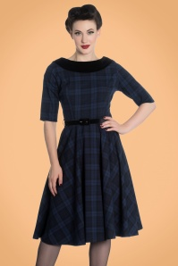 Bunny Livingston Blue Checked Swing Dress 102 39 19560 20170731 1