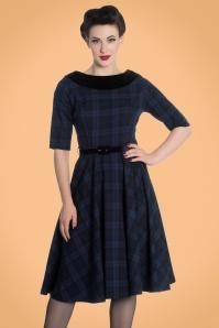Bunny Livingston Blue Checked Swing Dress 102 39 19560 20170731 1