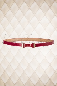 50s Summer Love Belt in Bordeaux Red