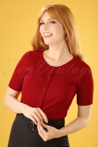 Bunny 50s Wendi Cardigan in Red