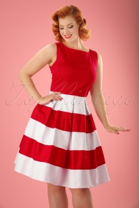 50s Anna Dress in Red and White