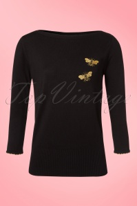 Madamoiselle Yeye Bee Top in Black 21592 20170523 0001W