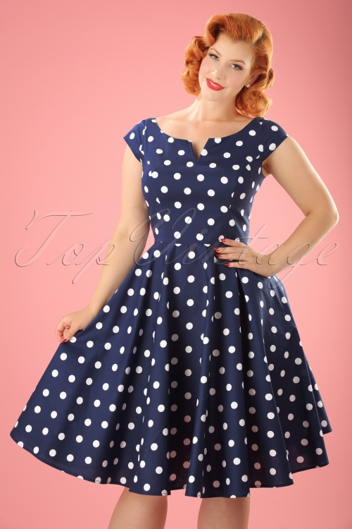 Bunny Nicky 50s Polkadot Swing Dress 102 39 21677 20170322 0018W