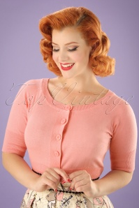 50s Raven Cardigan in Light Pink