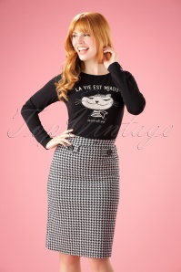 60s Svea Pencil Skirt in Houndstooth