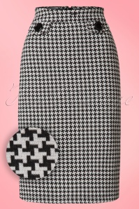 Madamoiselle Yeye Svea Pencil Skirt in Houndstooth 21594 20170516 0001W1
