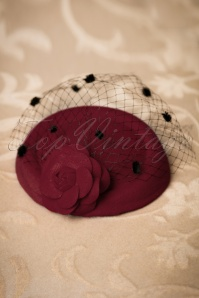 Dancing Days by Banned Mailyn Fascinator Burgundy 201 20 22215 03062017 010W