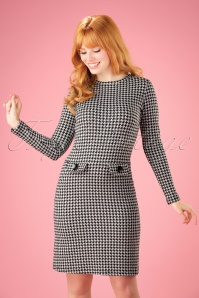 Madamoiselle Yeye Helen A line houndstooth Dress 21588 20170516 001W