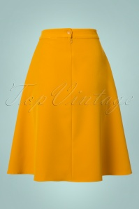 Collectif Clothing Jill Mustard Swing Skirt 122 80 21600 20170801 0009W
