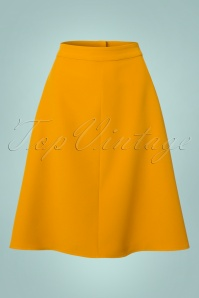 Collectif Clothing Jill Mustard Swing Skirt 122 80 21600 20170801 0003W