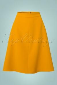 60s Jill Swing Skirt in Mustard