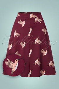 Collectif Clothing Jill Swing Hummingbird Skirt 122 27 21599 20170801 0002W1