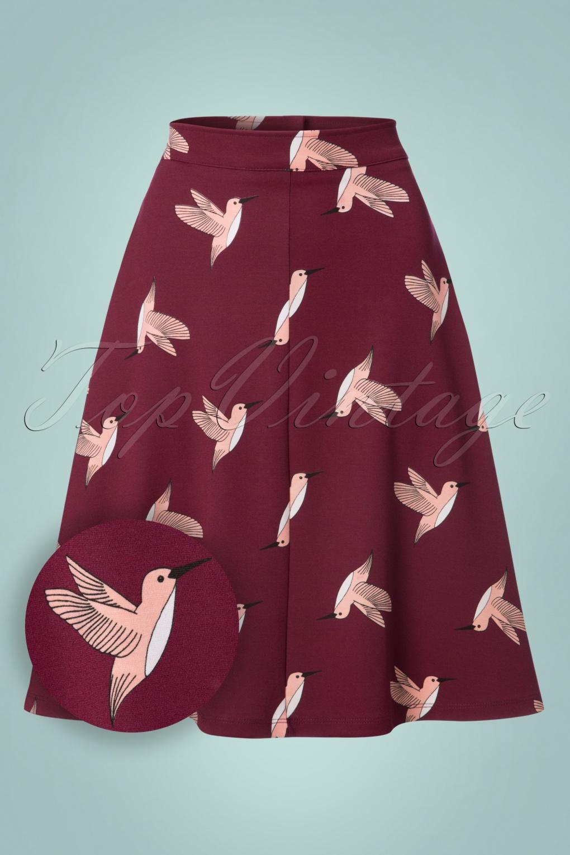 Retro Skirts: Vintage, Pencil, Circle, & Plus Sizes 60s Jill Swing Skirt in Hummingbird £63.65 AT vintagedancer.com