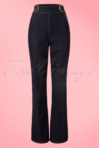 60s Sally Trousers in Denim