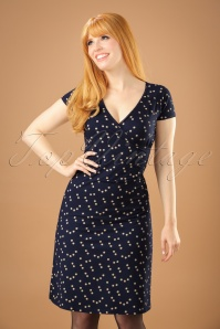 60s Star Cross Dress in Dark Navy
