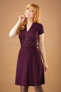 60s Emmy Fuji Dress in Majestic Purple