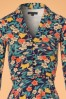 King Louie Emmy Floral Dress in Inkblue 102 39 21204 20170710 0002V
