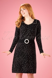 60s Lea Dandelion Dress in Black