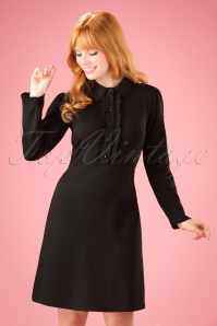 60s Rebecca Dress in Black