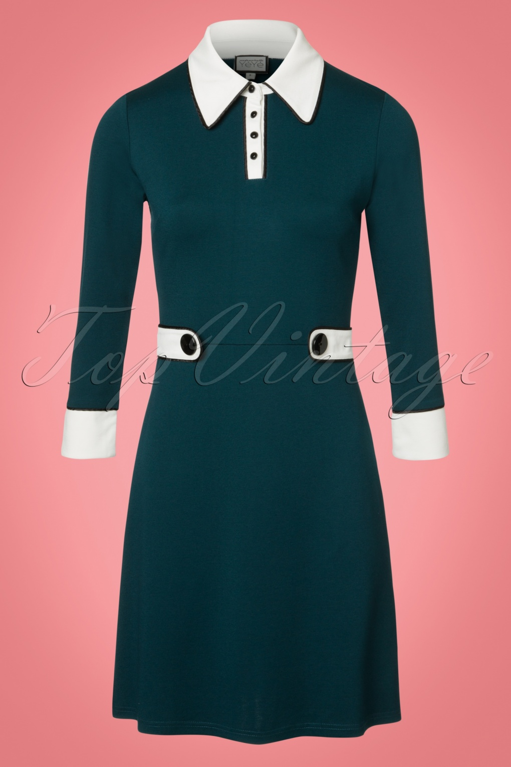 1960s Style Dresses- Retro Inspired Fashion 60s Nathalie Dress in Teal £95.50 AT vintagedancer.com