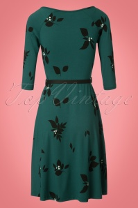 Collectif Clothing Blake Green Leaved Dress 102 49 21589 20170801 0003W