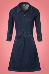 Collectif Clothing Paula A line Denim Dress 106 30 21583 20170801 0004W