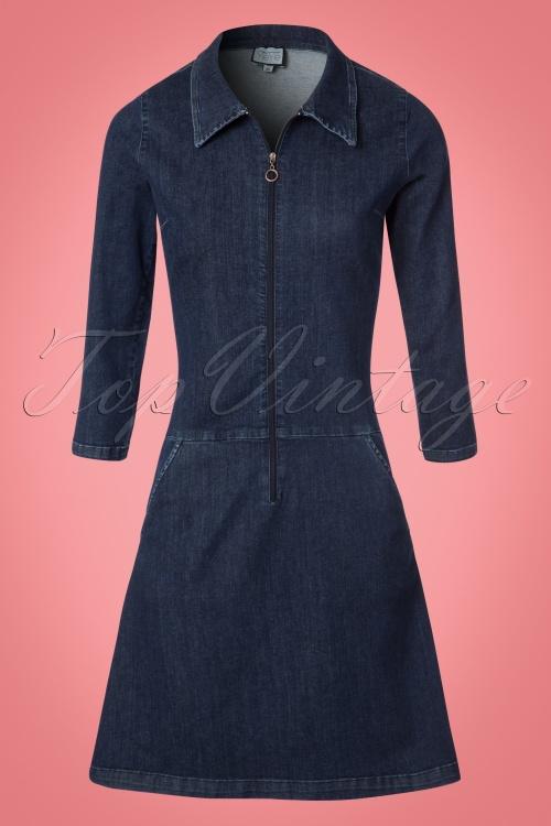 Collectif Clothing Paula A line Denim Dress 106 30 21583 20170801 0004W